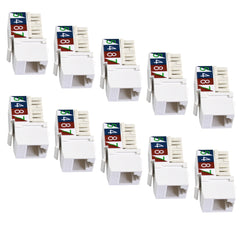 110 type keystone jack cat5 pack of 10 725WH-10