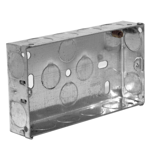 Metal Mounting Box Double Gang 25mm
