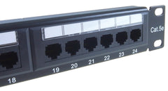 CAT5e 24 Port Patch Panel 900060 close up