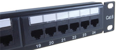 CAT6 24 Port Patch Panel 90-0030 close-up
