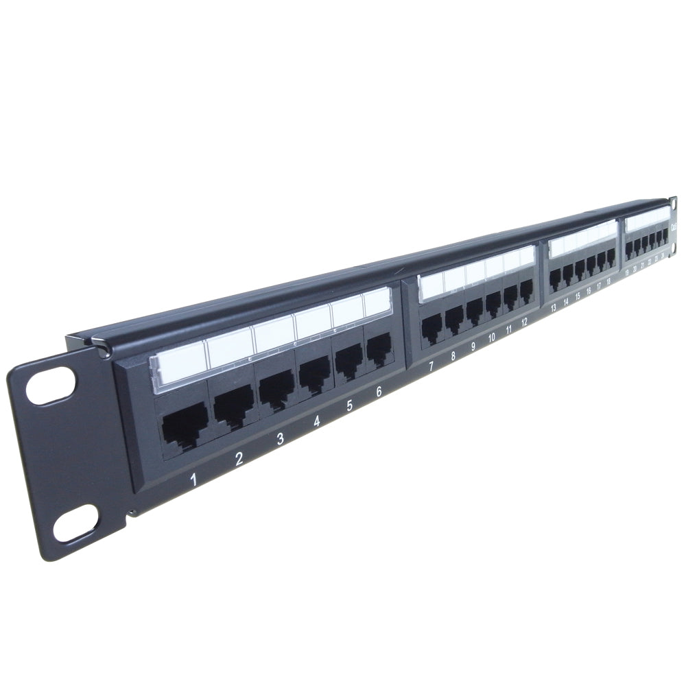 CAT6 24 Port Patch Panel front 90-0030