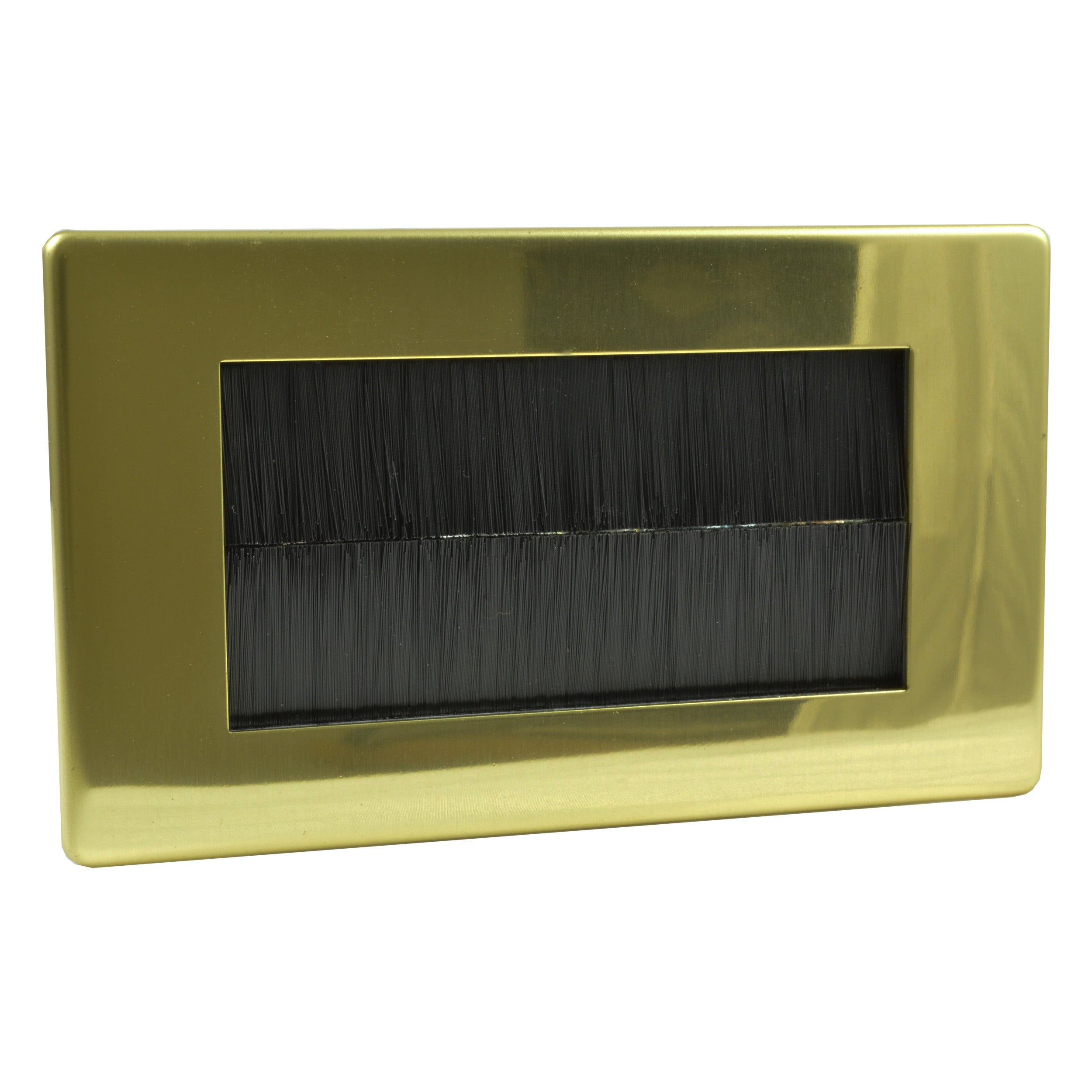 polished brass brushplate black brush double XDVG4S