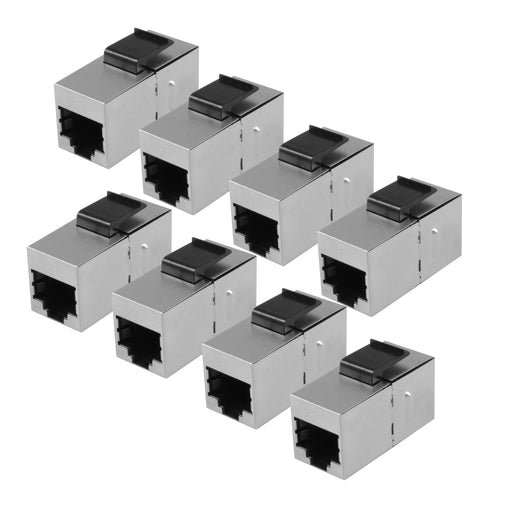 Shielded RJ45 Cat5 Cat6 Coupler, pack of 8