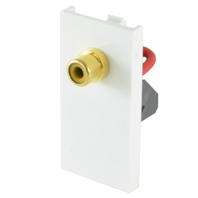 single RCA phono module white front