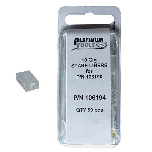 Pack of 50 liners 106194 for Platinum Tools 106192 connectors