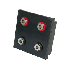 twin speaker outlet black with flat terminals front