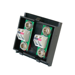twin speaker outlet black with flat terminals rear