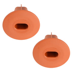 shotgun double cable entry exit bush grommet terracotta top