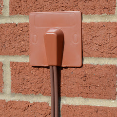 cable entry exit cover terracotta blow-out plate installed