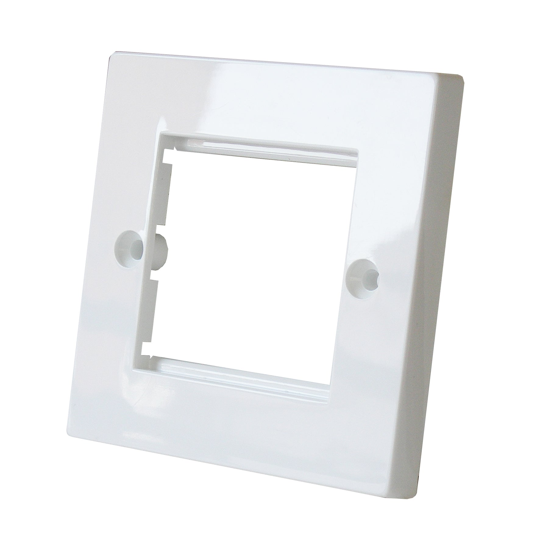 euromod faceplate single white front