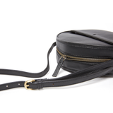 ROUND CROSSBODY BAG - BLACK