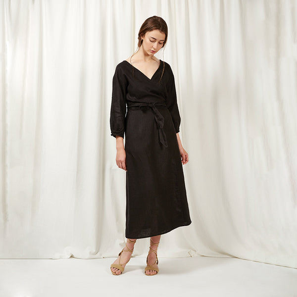 THE EDEN WRAP - BLACK