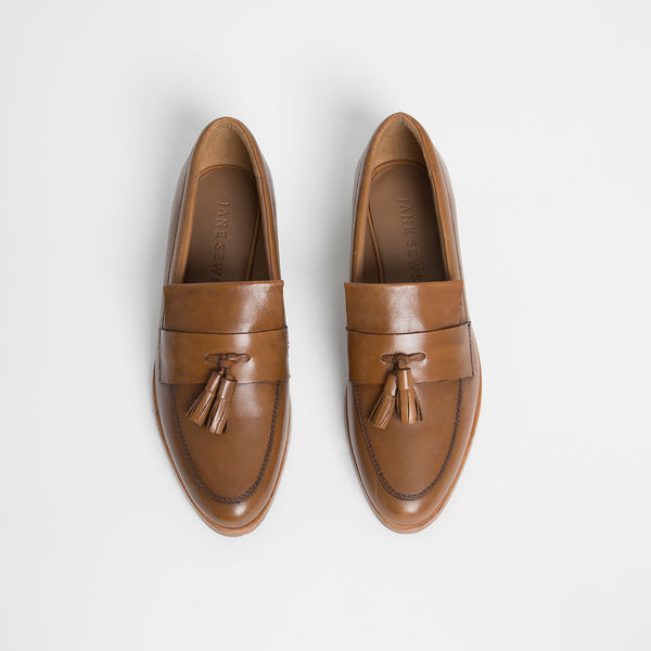 TASSEL LOAFER - CHESTNUT