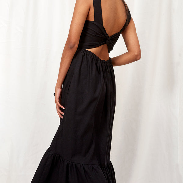 TEROSA DRESS  -  BLACK
