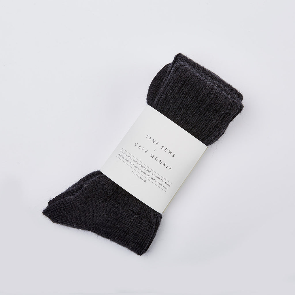 MOHAIR SOCKS - BLACK