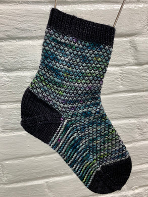 Broken Seed Stitch Sock