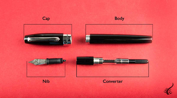 Parts of a fountain pen