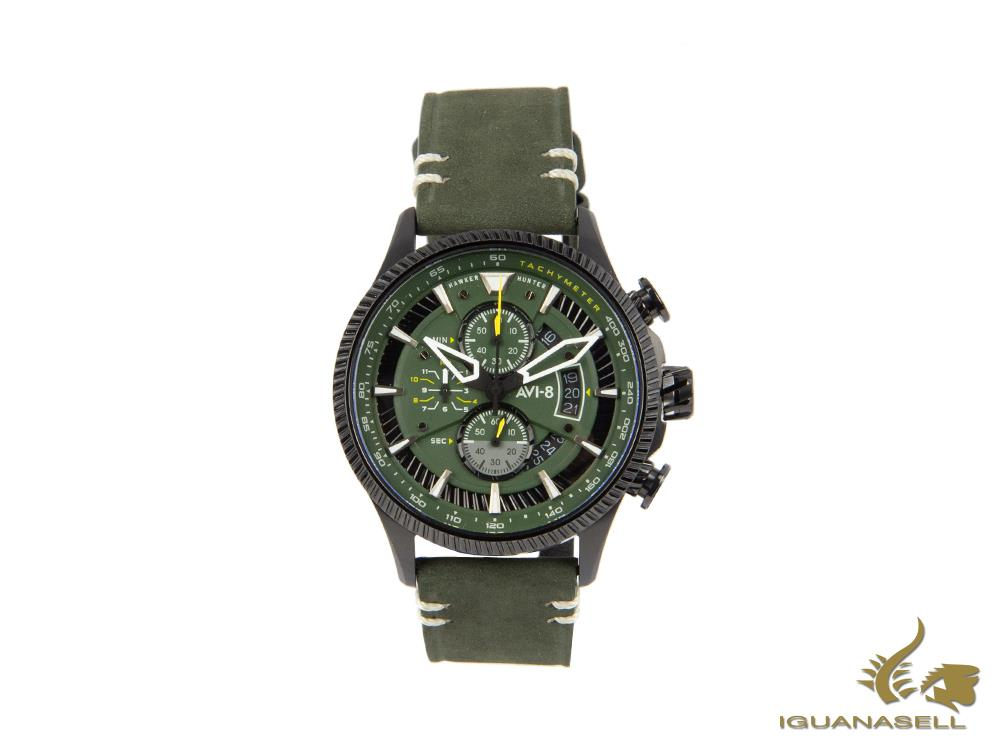 AVI-8 Hawker Hunter Avon Edition Quartz Watch, Green, 45 mm, AV-4064-02