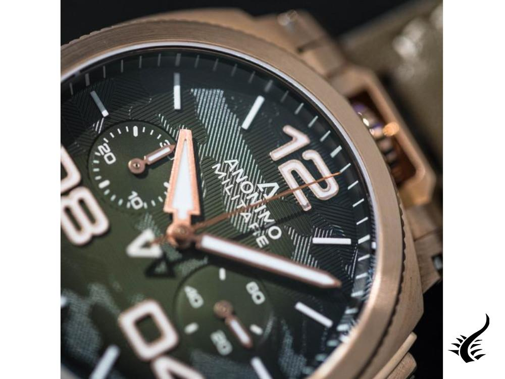 Anonimo Alpini-Camouflage Khaki Automatic Watch, Bronze, Green, 43,4 mm, L.E.