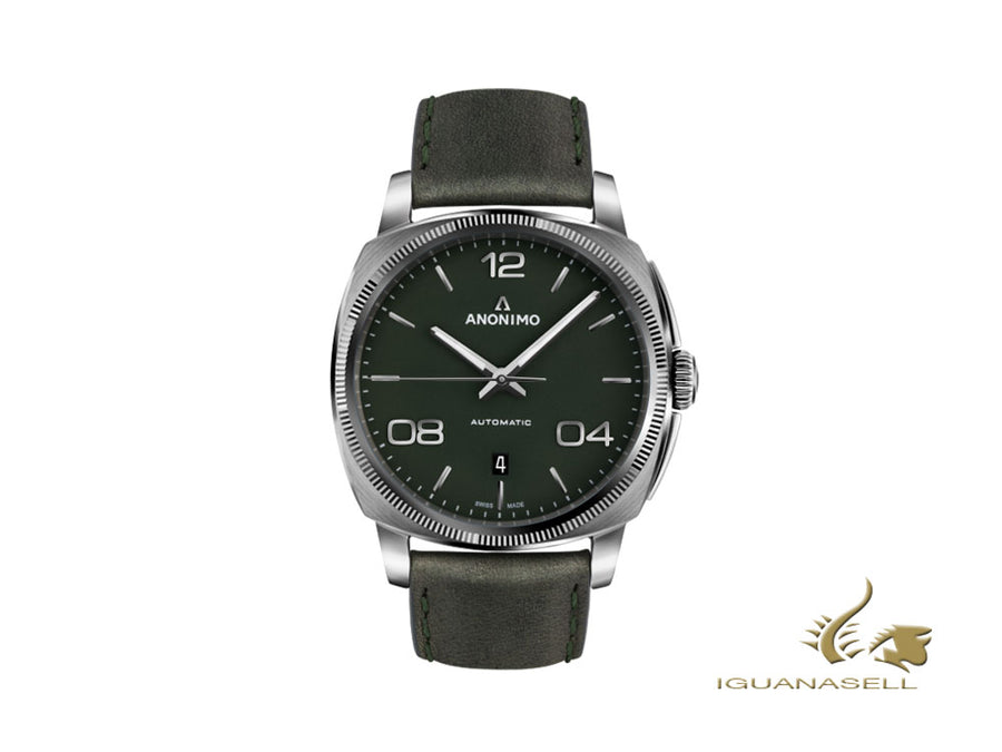 Anonimo Epurato Automatic Watch, Green, 42 mm, Leather strap, AM-4000.01.107.W66