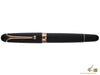 Aurora 88 Black Satin, Rollerball Pen, Resin, Rose Gold Trim, 879-PN