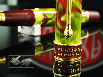 Aurora Asia Rollerball Pen, Limited Edition, Marbled resin, Gold trims, 535