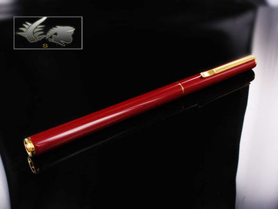 Aurora Hastil 1970 Ballpoint Pen - Red Lacquer & Gold