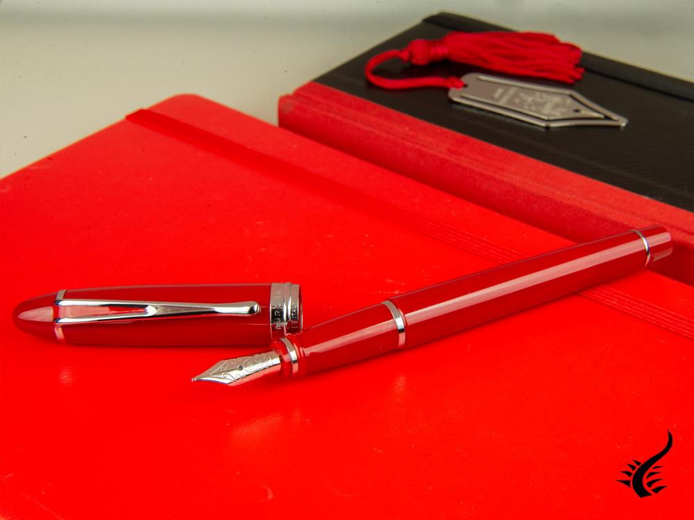 Aurora Ipsilon De Luxe Fountain Pen Red Resin B12CRM