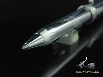 Aurora Ipsilon Design Ballpoint Pen - Chrome Cap and Barrel - B36D