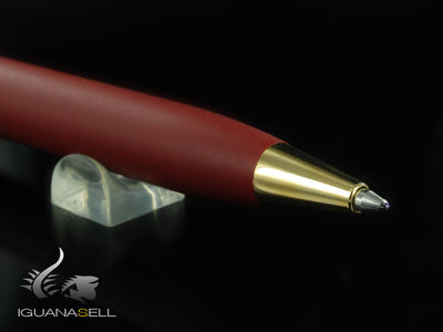 Aurora Ipsilon Matt Ballpoint Pen, Resin, Gold Trim, Red, B30-DX