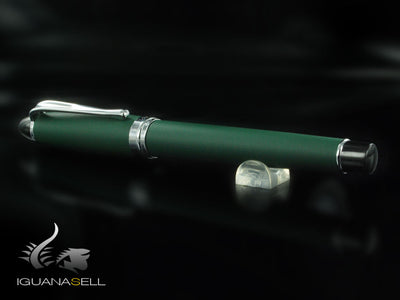 Aurora Ipsilon Matt Rollerball Pen, Resin, Chrome Trim, Green, B70-V