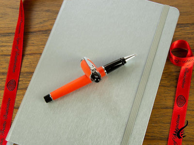 Aurora Ipsilon Satin Rollerball pen, Resin, Chrome trim, Orange, B70-O