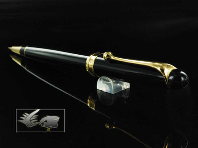 Aurora 88 Mechanical Pencil - Black Resin & Golden Trims - 850