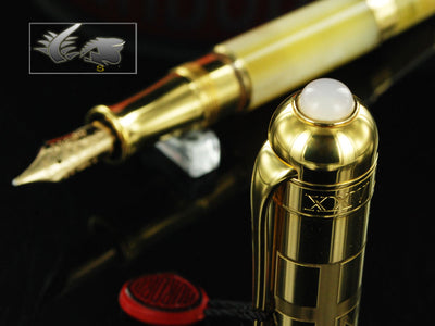 Aurora Papa Fountain Pen - Gold Plated Cap - Limited Edition