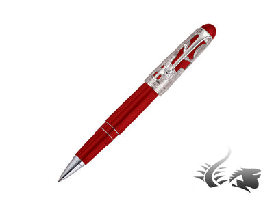 Aurora Special edition Roma Rollerball 88 pen, Resin, .925 silver trim, Red
