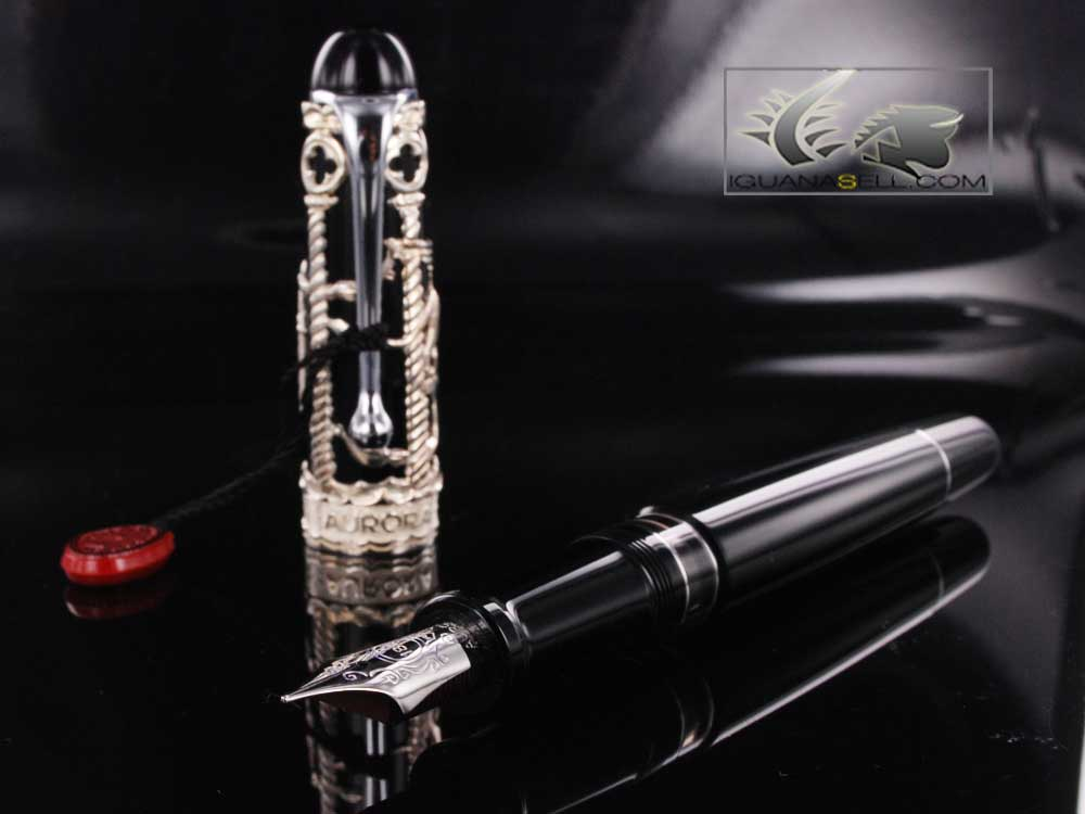 Aurora Venezia Fountain Pen Silver 925 Special Edition