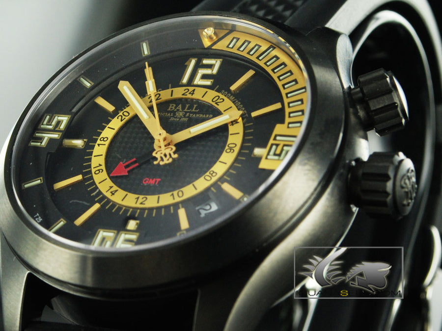 Ball Automatic Watch Eng. Master II Diver GMT DG1020A. Black-Yellow
