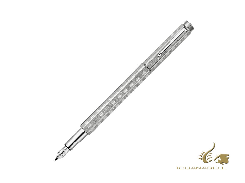Caran d´Ache Ecridor Variation Fountain Pen, Palladium, Silver, 958.347