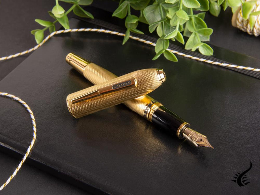 Cross Peerless 125 Fountain Pen, 23K Gold Plated, Polished, AT0706-4