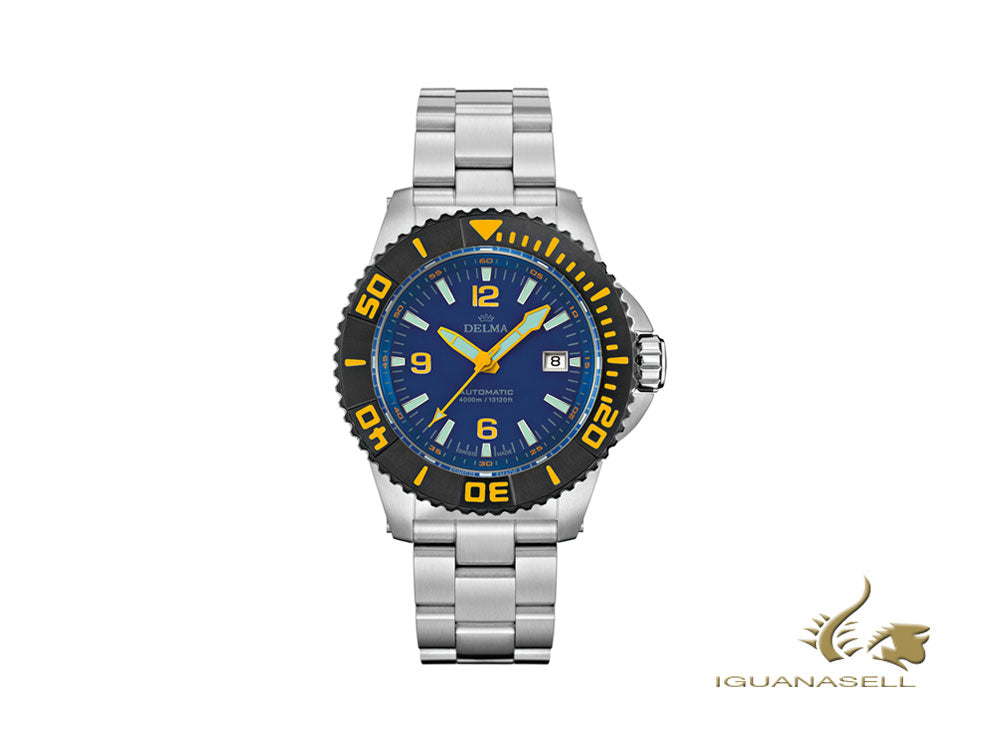 Delma Diver Blue Shark III Automatic Watch, 47mm, Limited Ed., 54701.700.6.044