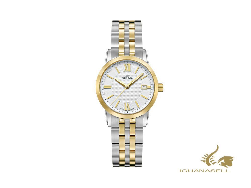 Delma Dress Cordoba Ladies Quartz Watch, White, 28mm, 5 atm, 52702.527.1.011