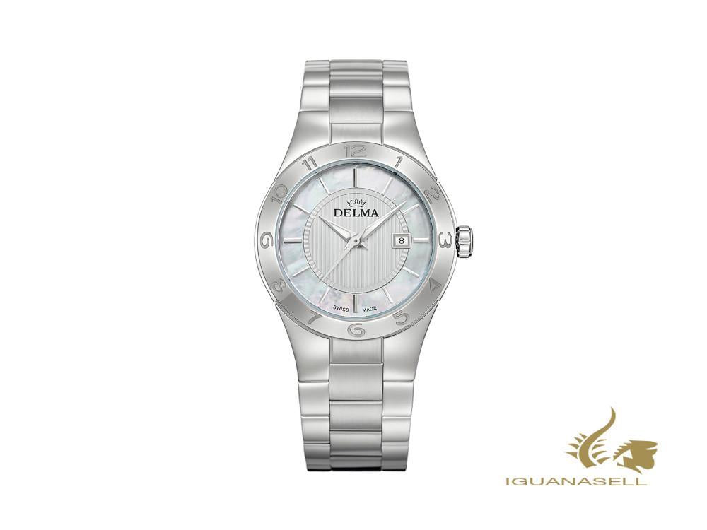 Delma Dress Rialto Ladies Quartz Watch, White, 34 mm, 5 atm , 41701.577.1.511