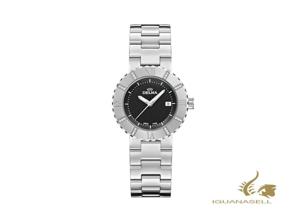 Delma Elegance Ladies Elba Quartz Watch, Black, 32 mm, 41751.605.1.031