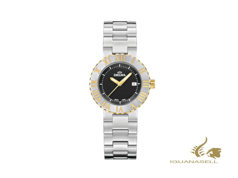 Delma Elegance Ladies Elba Quartz Watch, Black, 32 mm, 52701.605.1.031