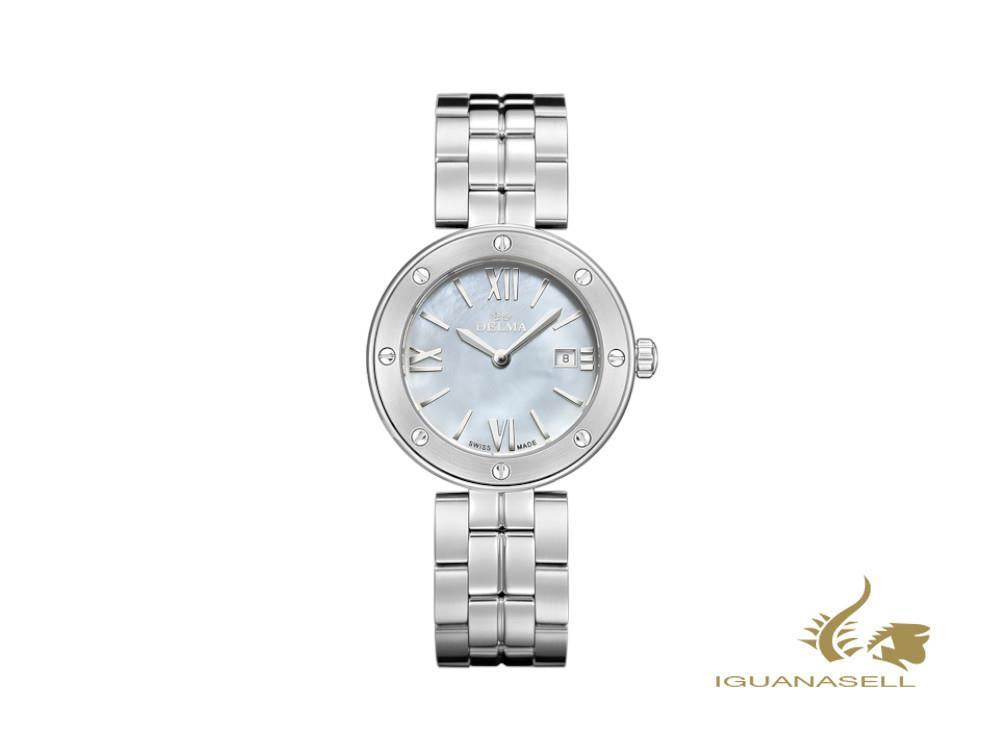 Delma Elegance Ladies Grenada Quartz Watch, White, 32 mm, 41701.611.1.516