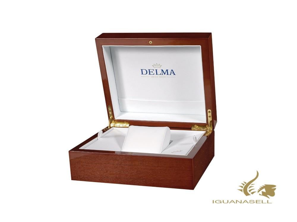 Delma Elegance Ladies Grenada Quartz Watch, White, 32 mm, 52711.611.1.516