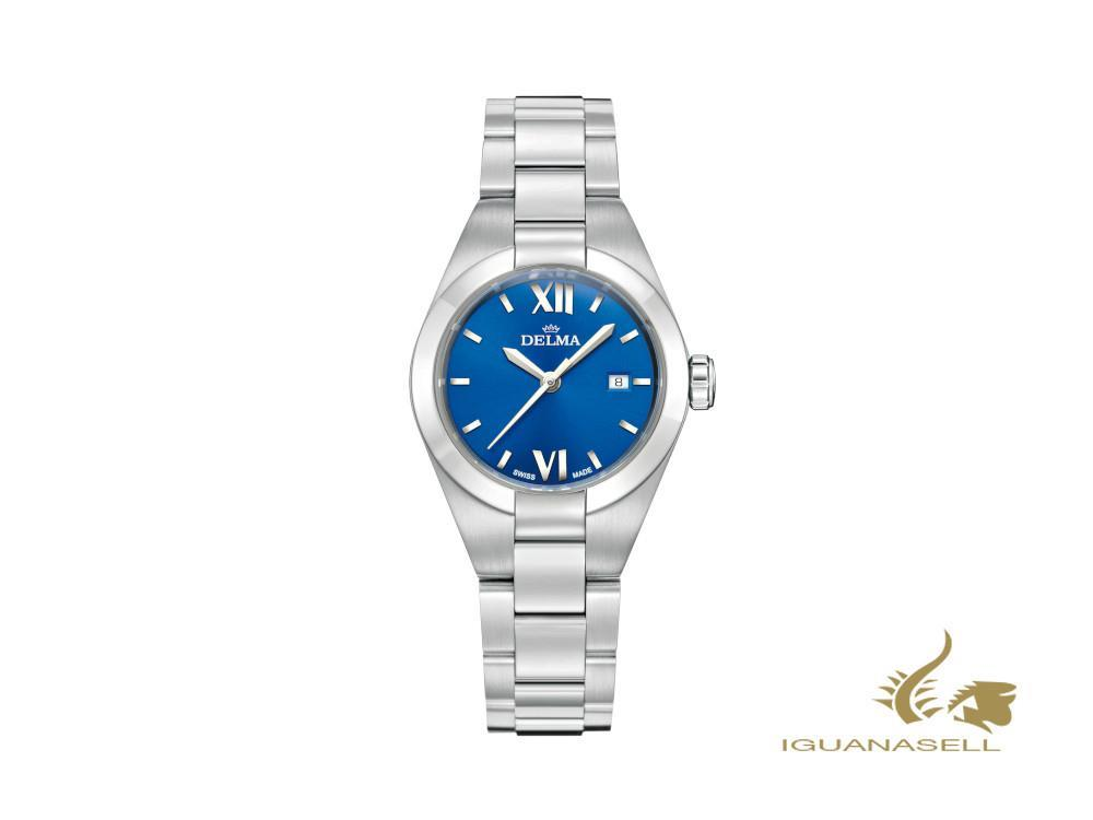 Delma Elegance Ladies Rimini Quartz Watch, Blue, 31mm, 41701.625.1.046