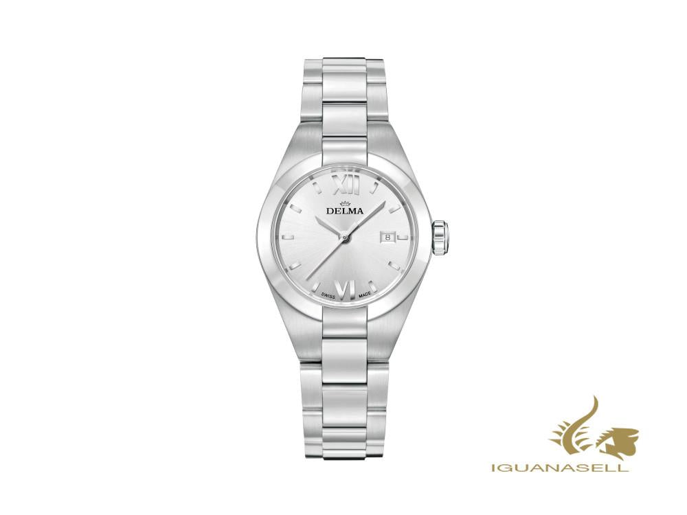 Delma Elegance Ladies Rimini Quartz Watch, Silver, 31mm, 41701.625.1.066