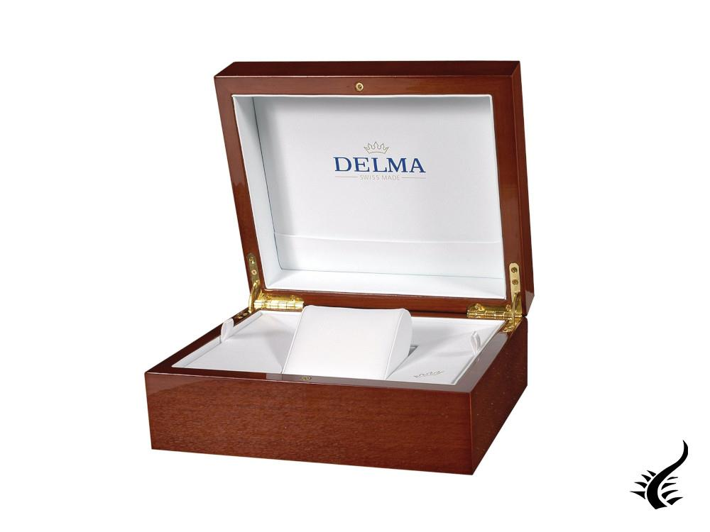 Delma Heritage Chronogrpah Automatic Watch, White, 43 mm, L.E., 42601.730.6.062
