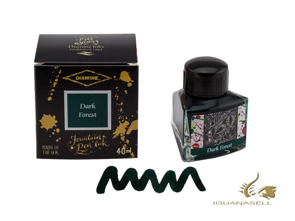 Diamine Ink Bottle, 40ml., Dark Forest, Crystal